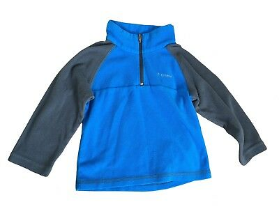 BOYS TODDLER COLUMBIA QUARTER ZIP FLEECE - Blue/Gray 3T