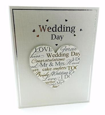 "Wedding Day Elegant Photo Album Gift 5x7"" New Boxed 66861"
