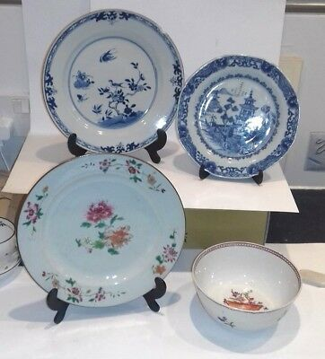 CHINESE 18th CENTURY PORCELAIN  X4, ALL HAVE SOME FAULTS