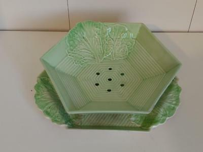 Carlton Ware Australian Design Strawberry Colander and serving bowl and dish