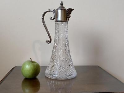 Late 19th Century Claret jug with silver plated mount and Bacchus spout