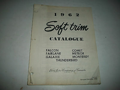 1962 Ford & Mercury Original Interior Soft Trim Parts Catalog T-Bird Fairlane