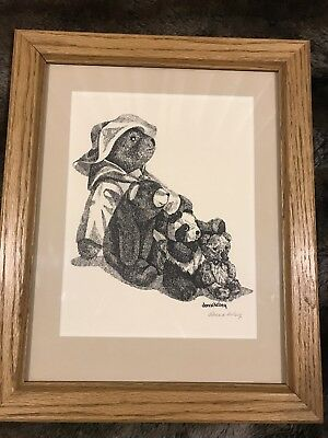 Donna Kelsey Signed Litho of Teddy Bears