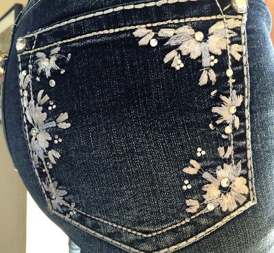 WALLFLOWER Luscious Curvy Ankle Jeans Bling Pockets Size 16W, 18W  NEW