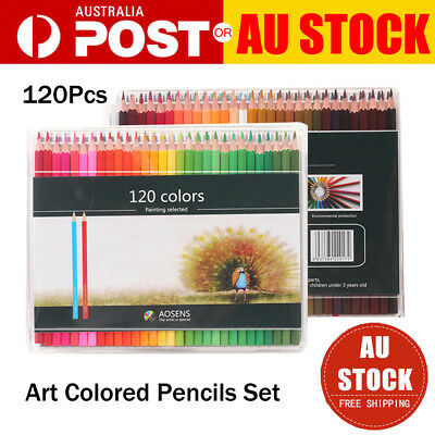 120PCS Art Colored Pencils Set Artist Painting for Adult Kids Coloring Book New