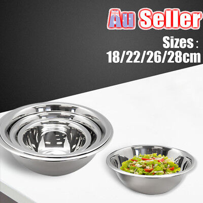 Steel Mixing Bowl 4 Pcs Stainless Set Kitchen Food Salad Mixing and Prep Bowls