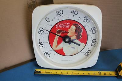 Vintage1993 Coca Cola Thermometer Indoor Outdoor Coke Advertising Lady Drinking