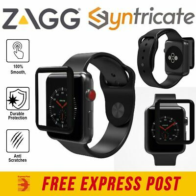 Zagg Glass Curve Elite Tempered Screen Protector For Apple Watch Series 3 (42Mm)