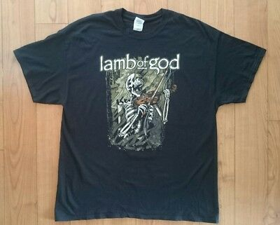 Official 2012 Lamb of God North America Tour Shirt Size XL Extra Large USA Metal