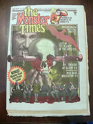 The Monster Times 1973 Theatre of Blood Magazine Comic #24