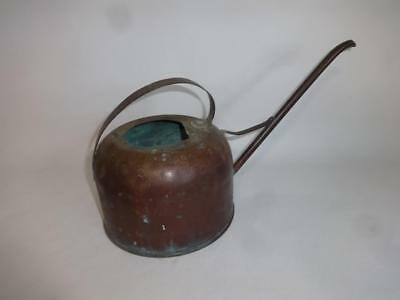 Antique Authentic Hand Made Brazed Copper Gardening Plant Watering Can