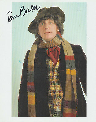 Tom Baker The 4Th Doctor Signed 8X10 Color Photo  Bbc Doctor Who Autograph