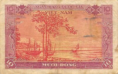 Viet Nam   10  Dong  ND. 1955   P 3a  Series B1  Circulated Banknote WKM