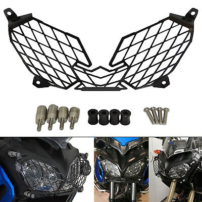 Front Headlight Grille Cover Guard Protector Black Fit 2010-2018 YAMAHA XT1200Z