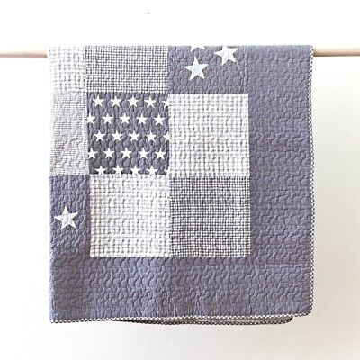 Grey Lachlan Cot Quilt