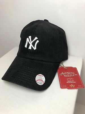 eef0bbfcc3ca4 ... snapback hat cap  new york yankees mlb hat american needle cap black  corduroy adjustable hat nwts