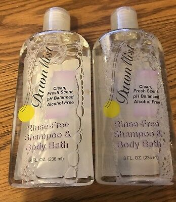 Dawn Mist Rinse Free Shampoo & Body Bath 2 bottles 8 fl oz each