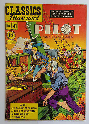 Vintage British Classics Illustrated:THE PILOT/FENIMORE COOPER No.41 HRN126 1/3