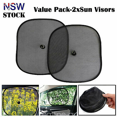2x Car Rear Side Window Sun Shade Mesh SUV UV Protection Large Universal