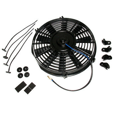 """16"""" inch universal electric fan with mounting kit cooling radiator Fan 16"""" 12V"""