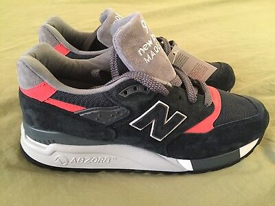 New Balance 998 Retro Suede Navy Blue Pink Gray Made In USA M998APC Sz 7