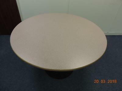 Wooden Round Table - 120 cm Diameter x 76 cm High with Cast Iron Supports