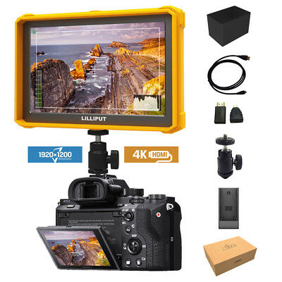 Yellow Lilliput A7s-2 7 inch 1920x1200 DSLR Camera Field Monitor 4K HDMI input
