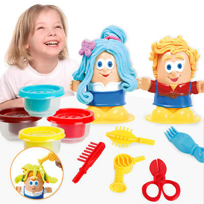 Non-poisonous Children's Barber Clay Playdough Clay Dough Mould Play  Diy Toy