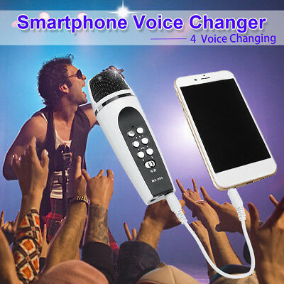 Voice Changer Microphone With Earphone For iphone Apple Smartphone PC Android AU