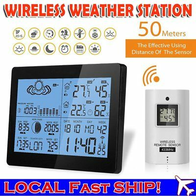 Wireless Digital Weather Station Precision Temperature Humidity Time Barometer