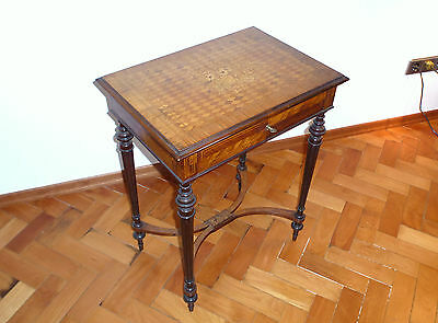 Jewelry Table Table with Inlaid Henry Lemoine Paris France Around 1850
