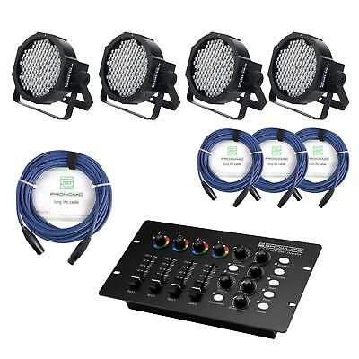 Projecteur Led Spot Controleur De Dmx Mixer Xlr Cables Dj Pa Rgb Set Eclairage