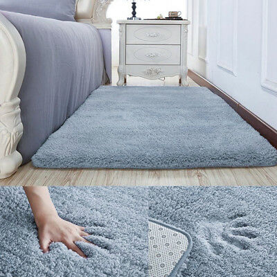 Super Soft Fluffy Rugs Anti-Skid Shaggy Carpets for Home Dining Room Bedroom NEW