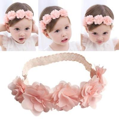 New Arrive Cute Baby Girl Toddler Lace Flower Hair Band Headwear Kids Headband