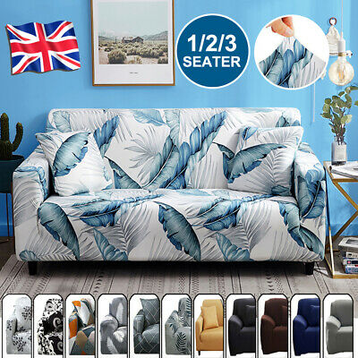 1/2/3 Sofa Covers Couch Slipcover Stretch Elastic Fabric Settee Protector Fit UK