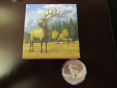 "100 Dollars Kanada, 2016, "" The Noble Elk"", Silber, rar, 1 Unze fein"