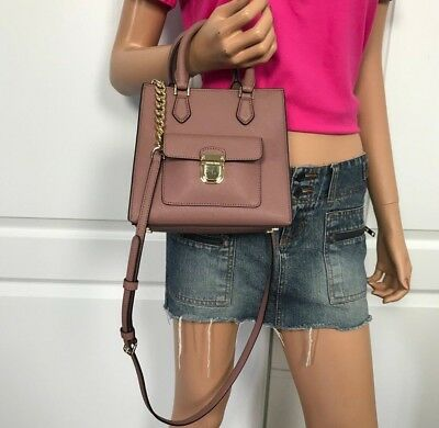 2c55b4c6e7f3 Nwt Michael Kors Bridgette Small Messenger Crossbody Dusty Rose Leather $298