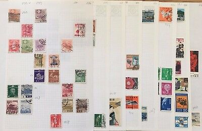Japan Stamp, 1923-1980, 8 Pages Stamp Of Mixed Mint And Used