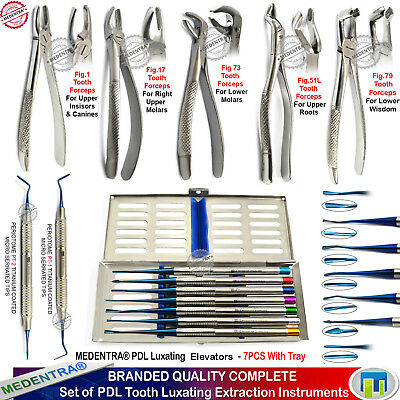 Surgical Dental Luxating Pdl Pt-1 Pt-2 Elevators Extraction Forceps Root Tip Ce