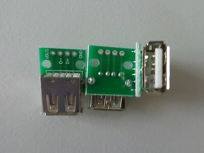 USB PCB adapter prototyping module Type A female