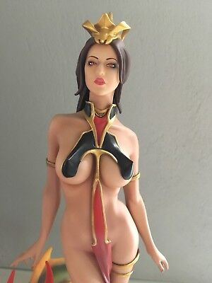 Sexy Lady Dragon Fantasy Yamato Resin Statue, Design Wei Ho, Sehr Selten 31cm