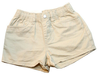 Uniqlo Boys Girls Elastic Waist Natural Beige Shorts Size S for 5-6 Years Old