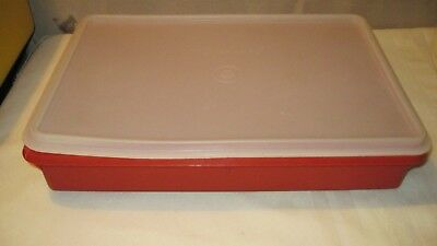 Elegant TUPPERWARE #290 Cold Cut Keeper Snack Stor® Large Container 9x12 Brownie