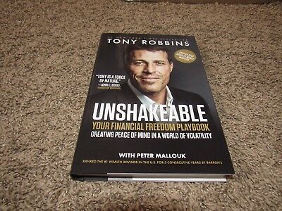 Unshakeable Your Financial Freedom Playbook Hardcover by Tony Robbins Brand New!