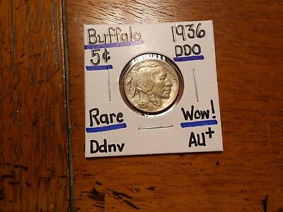 1936 DDO Buffalo Nickel AU+!!!!!!!!!! WOW!!!!!!!!!
