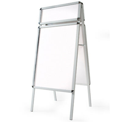 A1 A-Board Pavement Sign Poster Snap Frame Display Stand Advertising Shop Boards