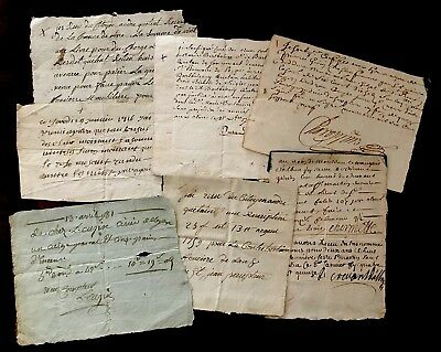 Lot Of Old Handwritten Documents on Paper 1600-1700s