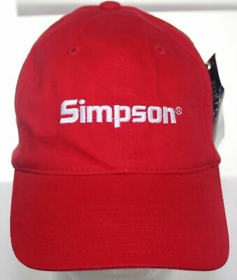 df37bebbc70 NWT Simpson Door Company Red Hat - Port Authority Adult Fitted Cap Size S M