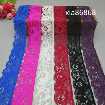 5 yards Stretch Lace Ribbon Clothing Sewing Fittings Wide 3cm, Free Shipping