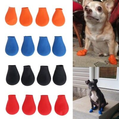 Pets Boots Waterproof Rubber Rain Shoes Non Slip Outdoor Dog Puppy Candy Color